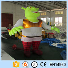 Custom design cartoon characters giant inflatable Shrek