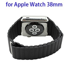 100% Genuine Leather Magnetic Watch Strap for Apple Watch Link Bracelet