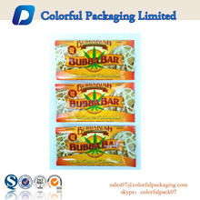 2015 Customized food grade 25mg mid seadled bag for white chocolate bar packaging