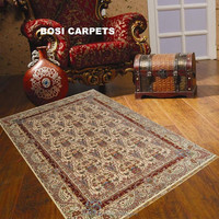 handknotted Vintage silk turkish rugs for sale