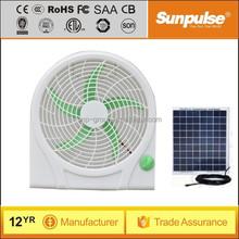 Lowest power 6w portable small fan solar power 10 inch small fan