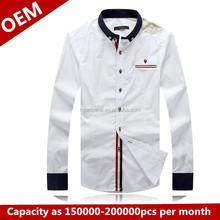 2014 Top quality oem custom men shirt wholesale fashion man shirts