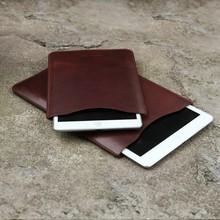 100% Genuine leather bag wholesale cow leather Tablet Case leather case for ipad