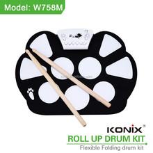 usb port safty silicon children's toy drum kit
