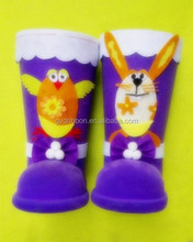 Hot Sale!Animals Pattern Decoratived Double plastic candy/ santa claus boots