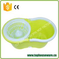 Thick handle folding bucket rotation mop without pedal