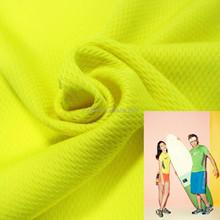 100% polyester UV bird eye double knit fabric