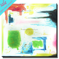 Abstract handmade simple style oil painting for living room