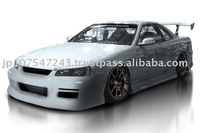 Auto Aero Parts INTRUDER series Made In Japan for NISSAN R34 SKYLINE 2DR