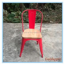 Outdoor furniture Metal Garden Chair with wood top GA101C