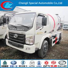 Foton 4*2 mini concrete mixer trucks cement mixer truck