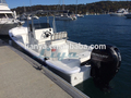 liya 25 pies de fibra de vidrio de pesca barco barco de panga para la venta