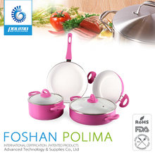 High quality forged aluminum ceramic coating cookware set 7pcs for kitchen