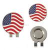 Custom USA flag enamel ball marker magnetic golf hat clip