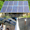 Solar energy submersible & surface water pump lifting ground water & river