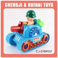 Wholesale plastic toy tank mini plush tank toy for baby