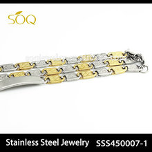 SSS450007-1 New Fashion Two Tone Mariner Chain for Men Necklace Stainless Steel Wholesale