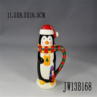 animal shaped mugs,3d animal mug,penguin animated mug