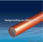 Alta qualidade 8 mm cobre revestido fio de aço rod com espessura de cobre 0.5 mm