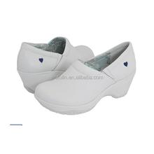 american style nursing hospital shoes made in china/slip-on hospital nursing shoes/fashion white nursing shoe for young women