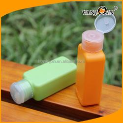 Green 100ML HDPE Plastic Squeeze Bottle Shampoo