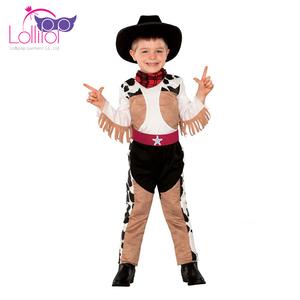 Toptan çocuk cadılar bayramı kostüm karnaval kovboy boy için giyinmek