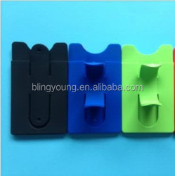 Silicone Stand Cell Phone Holder With Card Slot For All Smartphone