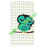 hot selling cute owl pattern wallet flip leather Case for Sony Xperia Z2