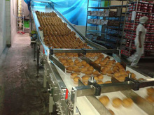 KH newest full automatic / semi auotmatic industrial center filling cake machine / production line for sale