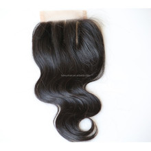 New arrive wholesale natural color cheaper price three part virgin hair closure