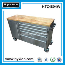 workshop stainless steel hyxion tool cabinet 48'' fatmax tool box with wooden top