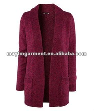 Melange cardigan without buttons