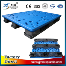 Solid plastic pallet for storage dedicated stacking