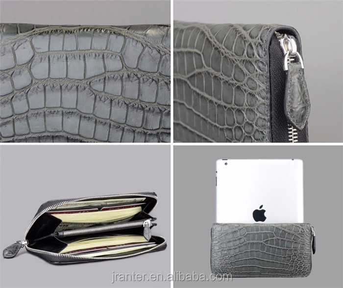 women leather wallet high quality crocodile leather luxury wallet for women_5