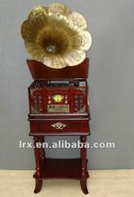 Multi-purpose phonograph F09 in the style of antiquity,Sound source output input function,Phonograph record machine/CD/Radio