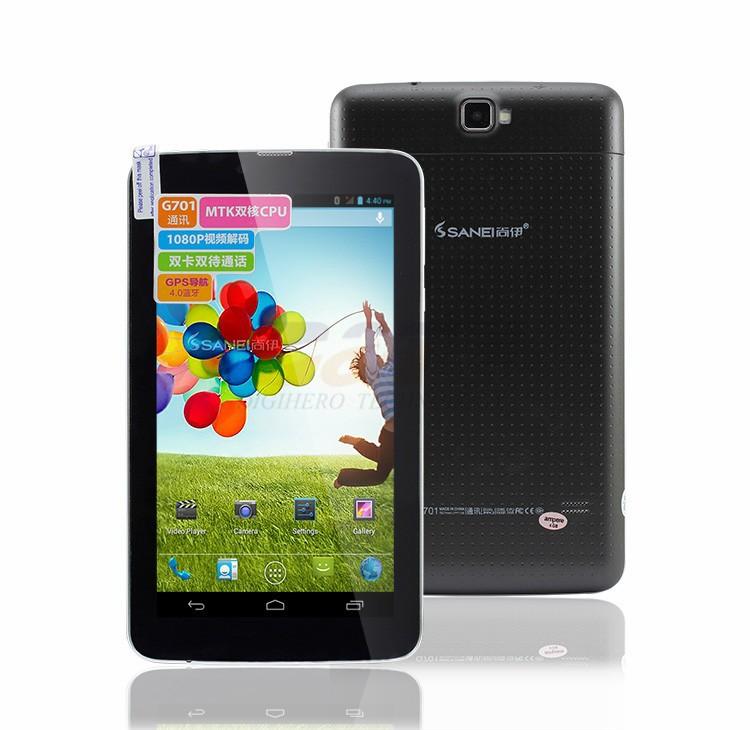 саней g701 2g телефонный звонок таблетки 7-дюймовый mtk6572 Двухъядерный процессор 800 * 480 wifi двойной камеры gps bluetooth двойной sim слот