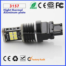Recommend!!! Auto 3157 light 850LM T25 3157 Canbus LED light 15 SMD light 3528 /2835 Yellow Red White 12V 24V