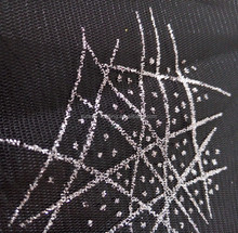 100%Polyester/Nylon 2015 Special Fantasy Star Glitter Net Mesh Fabric for Dress/Garment
