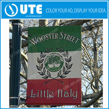 Outdoor advertising street banner, polyester Fence Banner, street pole flag