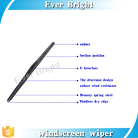 New arrival! universal auto car wiper blade,heated wiper blade