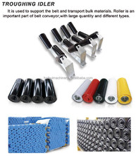 Standard hot sell belt conveyor painted carrier idler roller for material handling in China