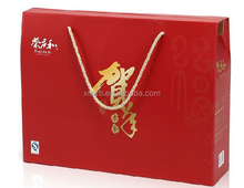 Hot sales custom made kraft paper gift box snack packaging with handle