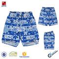 Estilo asiático azules y blancas de la impresión de la flor del cabrito pantalones