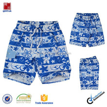 Asian style blue and white snow flower print kid pants