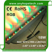 China manufacturer factory price high intensity 18W dmx512 led wall washer