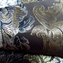 China Supplier big floral polyester jacquard sofa cover fabric