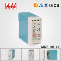 MDR-60-12 single output industrial Din Rail switching power supply 60w 12v 5a smps