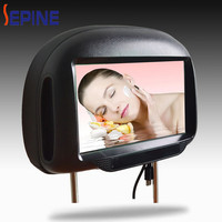 Portable Multimedia lcd screen 9'' car headrest monitor with hdmi input