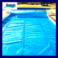 Hot sale rigid plastic waterproof swimming pool cover with PE bubble