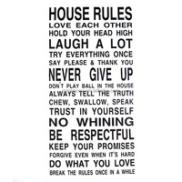 New ! Special Offer House Rules Quote Art Words Vinyl Wall Decal Stickers Decor Mural Stick For Home Bedroom Living Room Decor